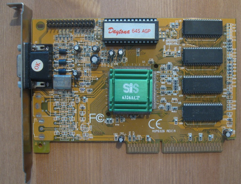 AGP chip was also used with cheap and slow EDO memory, this one ticks at 56 MHz.