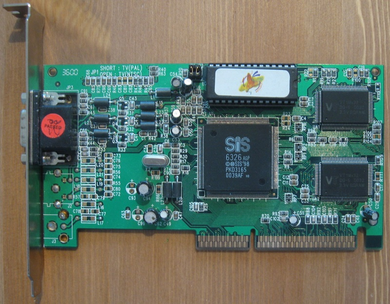 Here is the AGP chip with SGRAM, low default clock but great overclocker.